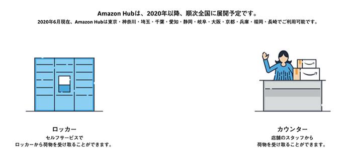 Amazon Hubが設置してある都道府県
