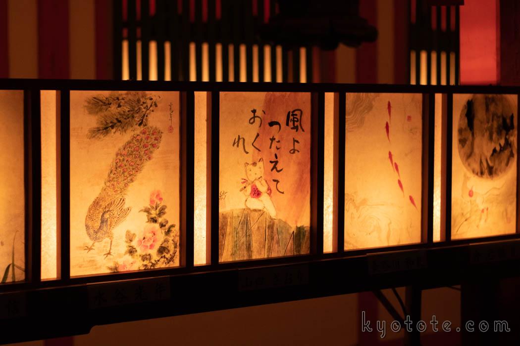 伏見稲荷大社の本宮祭の行灯画