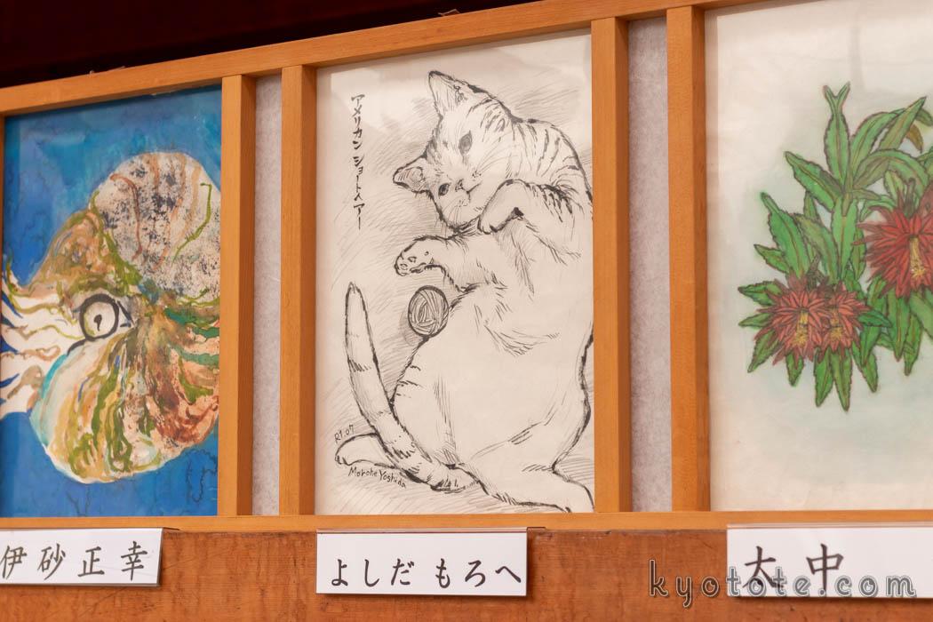 伏見稲荷大社の本宮祭のよしだもろへ先生の行灯画