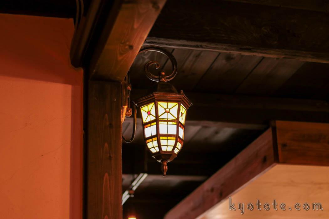 ハイライトカツサンドのアンティーク照明