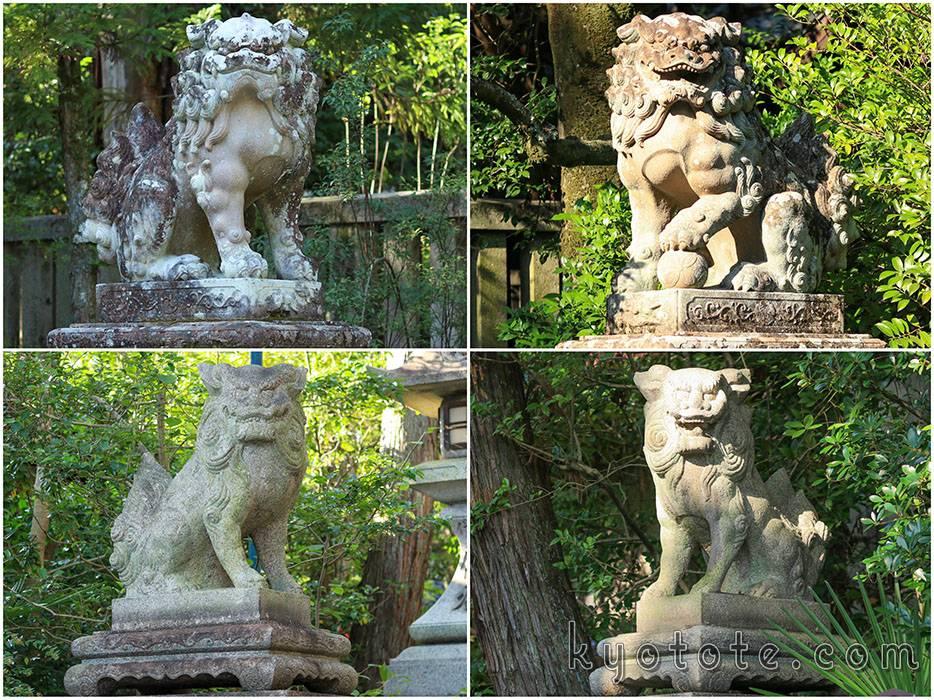 京都の岡崎神社の狛犬
