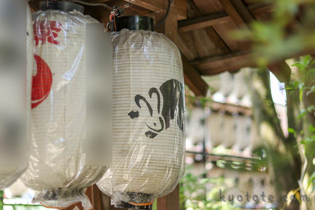 京都の岡崎神社の提灯