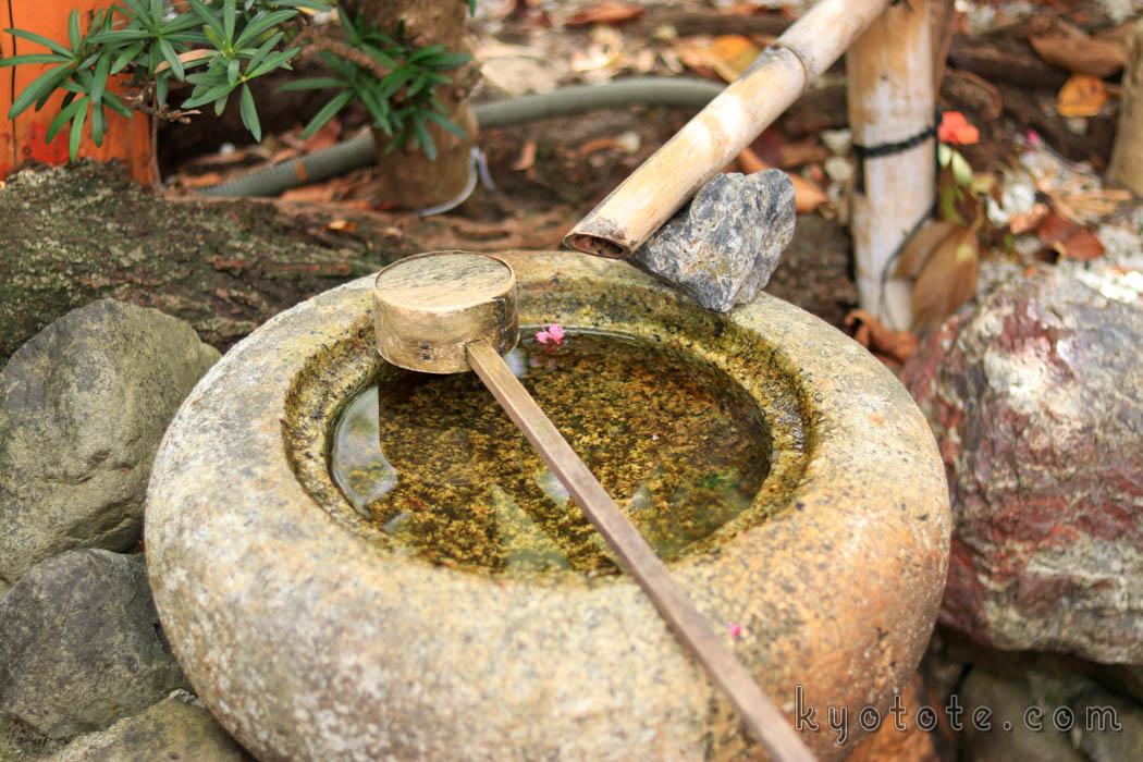 京都の辰巳大明神の手水舎